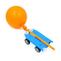 Balloon Powered Technology DIY Manual Recoil Force Educational Toys Car Gifts