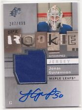 2009/10 SPx Jonas Gustavsson autograph jersey RC 247/499 Maple Leafs Red Wings