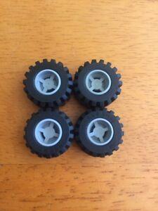 Lego Wheel Part 6014 X4 Light Grey Light Bluish Grey