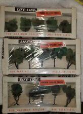 Vintage Life Like Green Shade Trees lot of 3. NIB. (13P)