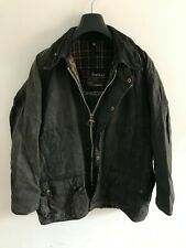 Mens Barbour Beaufort wax jacket Dark Blue coat 40 in size Medium / Large M/L #7