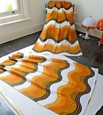 Vintage 1970s Geometric Design pair of Curtains...