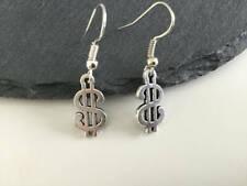 dollar,dollar jewelry,earrings,silver,g if Dollar earrings,money jewelry,American