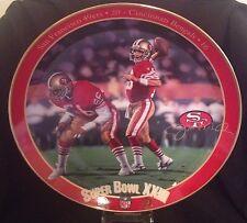 "8"" Joe Montana Collector Plate ""Joe Montana: King Of The Comebacks"""