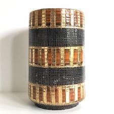 Vase rouleau en céramique de Bitossi Aldo Londi italie 1950s Design vintage