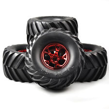 4Pcs Tires Wheel Rims For HSP HPI Racing 1:10 RC Bigfoot Monster Car 12mm Hex