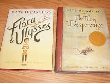 Lot 2 KATE DiCAMILLO Hardcover Books: Flora & Ulysses + The TALE of DESPEREAUX