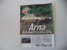 advertising Pubblicità 1984 ALFA ROMEO ARNA