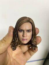 Captain Marvel 1/6 Head Carved PVC Carol Danvers Head Sculpt Fit 12'' TBL Body
