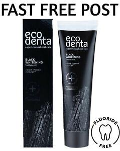 Ecodenta Black Whitening Toothpaste with Black Charcoal & Teavigo 100ml Natural
