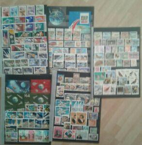 Briefmarken Asien,S.Amerika viel Raumfahrt