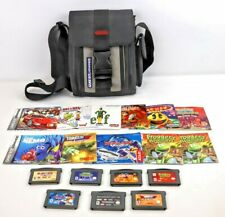 Lot of 7 Game Boy Advance Cartridges with 11 Manuals and Nintendo Travel Case