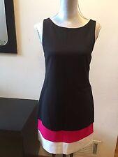 NEW Bailey B44  Sleeveless  Dress Black White Pink Size M