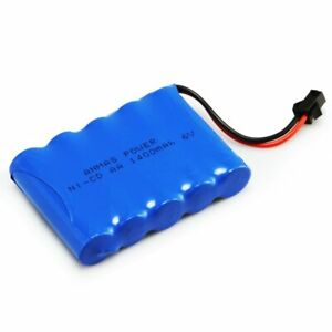 6V 1400mAh RC Battery Ni-Cd Battery For Toy Car Rechargeable SM 2Pin