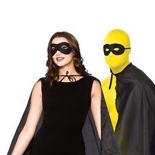 Herren Kostüm Domino Augenmaske Einbrecher überführen Bandit schwarz Maske Zorro