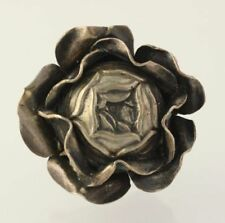 Rose Flower Door Knob/Pull - Silver Toned Collectible Cabinet Handle