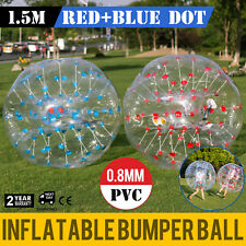 2PCS 1.5M Inflatable Bumper Football PVC Zorb Ball Reusable Adult Soccer