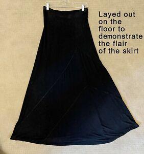 Cynthia Rowley Long Black Knit Skirt - size medium