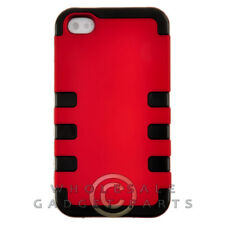Apple iPhone 4/i4S TUFF Hybrid Case - Red Cover Shell Protector Guard Shield