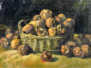 Basket of Apples by Vincent van Gogh A2+ High Quality Art Print