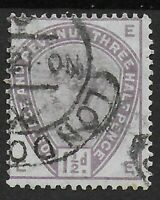 SG188. 1&1/2d. Lilac. Fine Used With Strong Colour. Clean Stamp.  Ref:0819