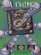 1996 Saban POWER RANGERS ZERO Full Tilt Battle Pinball video game print ad page