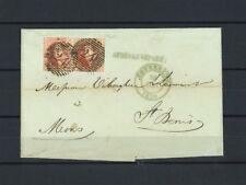 """5a paire sur LAC de Bruxelles du 26 janvier 1850 vers Mons """"APRES LE DEPART"""" !"""