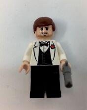 LEGO Indiana Jones White Tuxedo minifigure 7682 mini figure & pistol gun (CI)