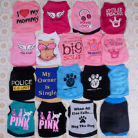 18PCS Lot Wholesale Dog Clothes T Shirt Pet Boy Girl Small Puppy Cat Vest Summer