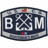 """Coast Guard Boatswain's Mate BM Rating Patch 4 1/2"""" x 3 1/4"""" Licensed"""