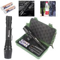 Phixton Bright 8000LM XM-L T6 LED Flashlight+2PCS 18650 Battery+Charger+Case HOT