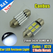4 x 31mm Car Interior Light 5630 SMD 4-LED Canbus Festoon Dome Bulbs ERROR FREE