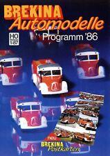 Brekina Prospekt Modellautos 1986 H0 1:87 brochure model cars Ford 17M Bulli