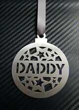 DADDY BAUBLE Dad Father Grandad Decoration Christmas Tree Hanging Ornament Gift