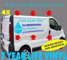 4 x Commercial Vehicle Vinyl Graphics Van Decal Sign Making Window Cleaning