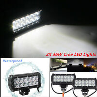 36W WATERPROOF CREE LED LIGHT BAR OFFROAD DRIVING LAMP WORK SUV ATV CAR 4WD JEEP