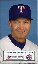 2001 Texas Rangers Dr. Pepper #24 Jerry narron SGA Milwaukee Brauer