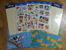 Disney Theme Park Scrapbooking Paper & Sticker Set Games Blocks Letters Mickey