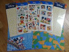 Disney Theme Park Scrapbooking Paper & Sticker Set Games Blocks Letters Mickey