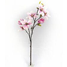 82cm ARTIFICIALI MAGNOLIA Spray-ROSA-FAKE primavera ed estate Fiore Stelo