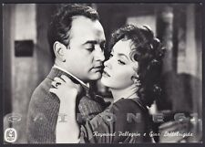 GINA LOLLOBRIGIDA - RAYMOND PELLEGRIN ATTORI ACTRESS CINEMA MOVIE Cartolina FOT.