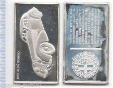 lingot d argent les voitures du Monde ( 1933 Alfa Romeo - 022 )