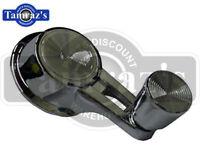 Vent Window Crank Handle pair 60-64 Chevy chrome knob w//clips front