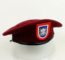 US 82ND AIRBORNE DIVISION BERET HAT MILITARY BERET FLASH RED BERET DUI SIZE XL