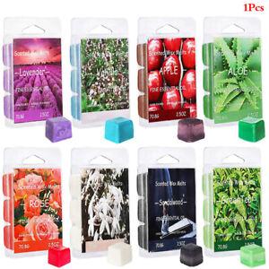 Scented Wax Melts Air Freshener Soy Wax Warmer Cubes Rose Sandalwood Tea A`AU
