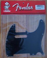 Genuine FENDER Telecaster 3Ply BLACK Pickguard TELE USA Made  Fits USA & Mexican