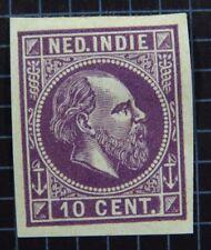 Essay Stamp Nederland Indie Ned. 10 Cent (*) Willem Wilhelm 3 Trial Test Probe