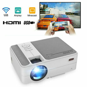 3500lms Full HD Portable Cinema Video Projector WiFi Airplay for iPhone HDMI USB