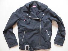 Levi's® Biker Jacke Jeansjacke Gr. S, wie NEU ! leichte, schwarze Sommer Jacke !