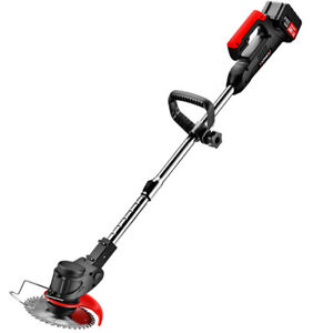 Handheld 21V 7500Mah Cordless Electric Grass Trimmer fit Crops Lawn Pruning Tool